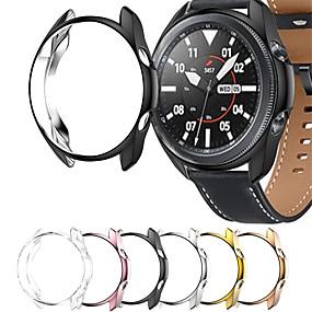 billige Tilbehør til smartklokke-beskyttelsesveske til samsung galaxy watch 3 45mm 41mm watch3 myk tpu beskyttende støtfangervesker se tilbehør