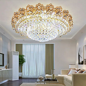 cheap Ceiling Lights-9-Light 80 cm Lantern Desgin Flush Mount Lights Crystal Modern 110-120V 220-240V