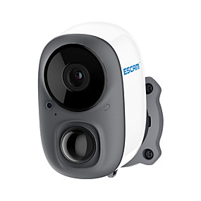 cheap Indoor IP Network Cameras-ESCAM G15 1080P Full HD AI Recognition Rechargeable Battery PIR Alarm Cloud Storage WiFi Camera
