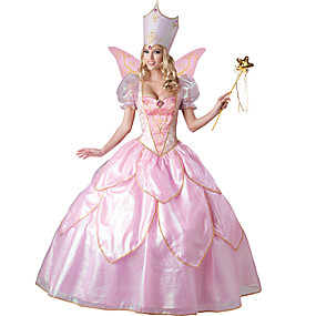 cheap Cosplay Costumes-Elf Dress Masquerade Adults' Women's Cosplay Vacation Dress Halloween Party Masquerade Halloween Carnival Masquerade Festival / Holiday Polyester Pink Women's Easy Carnival Costumes Novelty / Wings