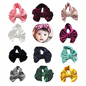 cheap Accessories-8 pcs baby new born dots hair band head band stripe candy color toddler and childrensgirl's hairbands for newborn
