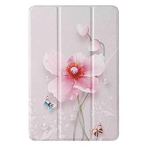 cheap iPad case-Case For Apple iPad mini 1/2/3 7.9'' iPad mini 4 7.9'' iPad mini 5 7.9'' with Stand Flip Pattern Full Body Cases Pearl Flower PU Leather TPU