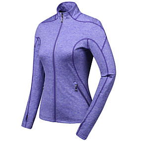 cheap Running & Jogging-TRYSIL Women's Long Sleeve Running Track Jacket Full Zip Outerwear Coat Top Athletic Winter Moisture Wicking Quick Dry Breathable Fitness Gym Workout Running Jogging Training Sportswear Solid Colored