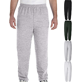 cheap Yoga & Fitness-Men's Sweatpants Joggers Track Pants Bottoms Elastic Waistband Cotton Fitness Gym Workout Performance Running Training Breathable Soft Sweat wicking Sport Solid Colored White Black Military Green Gray