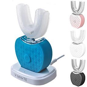 halpa Suuhygienia-sähköinen sonic automaattinen hammasharja aikuisten suu 360 astetta u tyyppi abs 4 moodit ultraääni sähkö laiska hammasharja