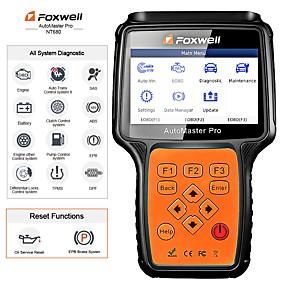 hesapli Yerel depo-foxwell nt680 tüm sistemler teşhis tarayıcı, yağ ışığı / servis sıfırlama ile tarama aletini oku nt624'ün güncellenmiş versiyonu