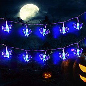 cheap LED String Lights-3m 20LEDs Little Bat Style Halloween String Lights AA Battery Operated Dhost Festival Horror String Lights Halloween Decoration Lights