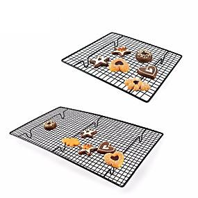 billige Bakeformer-nonstick kake kjølestativ nett metallkaker kjeks brød muffins tørking stativ kjøligere holder kjøkken bakervarer