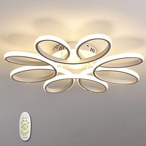 cheap Dimmable Ceiling Lights-1-Light 65 cm LED Flush Mount Ceiling Light Flower Design Metal Silica gel Linear Painted Finishes Modern Contemporary 110-120V/220-240V