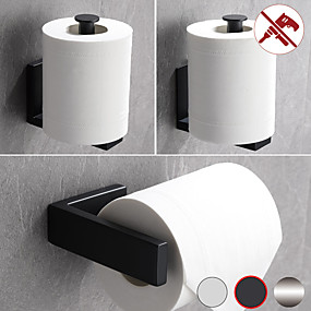 cheap Toilet Paper Holders-Toilet Paper Holder Bathroom Tissue Holder SUS 304 Stainless Steel 1pc - Punchable or Pasteable Bathroom Wall Mounted