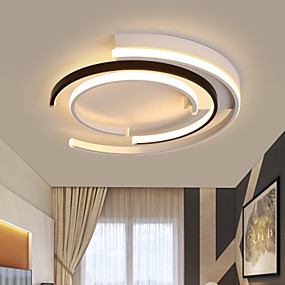 cheap Dimmable Ceiling Lights-40/50 cm Dimmable Geometric Shapes Flush Mount Lights Metal Painted Finishes LED Modern 110-120V 220-240V