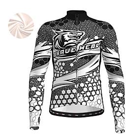 cheap Cycling & Motorcycling-21Grams Men's Long Sleeve Cycling Jersey Winter Fleece Polyester Yellow Red Blue Bike Jersey Top Mountain Bike MTB Road Bike Cycling Fleece Lining Warm Quick Dry Sports Clothing Apparel / Stretchy