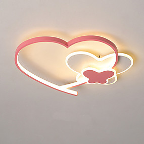 cheap Dimmable Ceiling Lights-40/50 cm Heart Shape Cartoon Style Ceiling Lamp Pink Love Girl Bedroom Lamp Home Lighting Decoration Ceiling Lamp