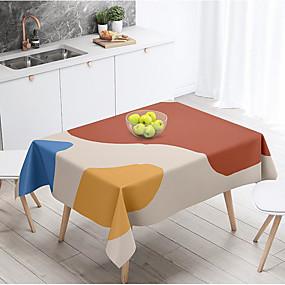 billige Duker-duk morandi nordisk stil vanntett bordmatte rektangulært hjem spisebord skrivebord salongbord bomull lin stoff deksel