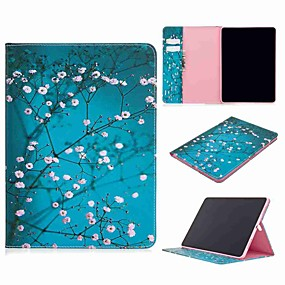 cheap iPad case-Case For Apple iPad Pro (2020) 11'' iPad 7 (2019) 10.2'' iPad Air 3 (2019) 10.5'' Wallet Card Holder with Stand Full Body Cases Plum Blossom PU Leather TPU for iPad 5 (2017) 9.7'' iPad 6 (2018) 9.7