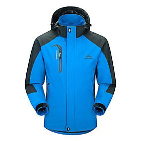 cheap Camping, Hiking & Backpacking-Men's Hoodie Jacket Windbreaker Hiking Jacket Rain Jacket Running Jacket Lightweight  Thermal Warm Windproof Breathable Sweat-Wicking Camping Hunting  Red Blue Green Dark Navy
