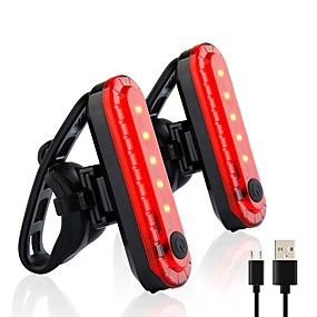 cheap LED Camping Lights-Bicycle Lights USB Charging LED Warning Lights Night Bike Rear Light Cycling Waterproof Tail Light For Cycling Bicycle