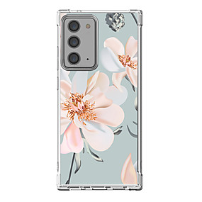 cheap Samsung Case-Floral Case For Samsung Galaxy S21 20 Plus S20 Ultra Note 20 10 S20 FE Design Protective Case Shockproof Back Cover TPU