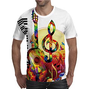 cheap Athleisure Wear-Men's T shirt 3D Print Graphic 3D Machine Plus Size Print Short Sleeve Daily Tops Elegant Exaggerated Rainbow