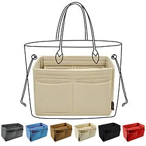 cheap Travel-purse organizer insert,  felt handbag organizer with zipper pouch, key chain for tote bag organizer, speedy