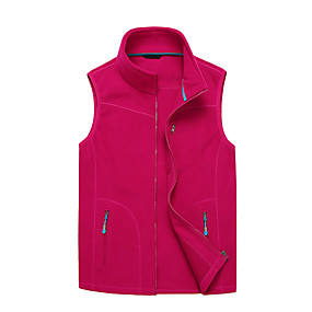 cheap Camping, Hiking & Backpacking-Women's Hiking Fishing Vest Work Vest Outdoor Casual Lightweight with Multi Pockets Autumn/Fall Winter Spring Travel Cargo Safari Photo Wear Resistance Breathable Waistcoat Jacket Coat Top