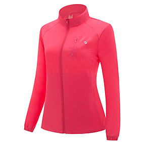 cheap Camping, Hiking & Backpacking-Women's Hiking Jacket Autumn / Fall Winter Spring Summer Outdoor Solid Color Windproof Warm Breathable Comfortable Jacket Single Slider Hunting Ski / Snowboard Climbing Purple Red Fuchsia