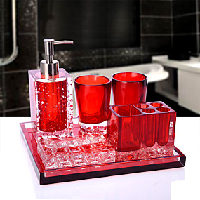 cheap Bathroom Accesscories Set-Bathroom Accessories Set 6 Piece Ceramic Complete Bathroom Set for Bath Decor Includes Toothbrush Holder Soap Dispenser Soap Dish Tray  2 Mouthwash Cup Home and Hotel