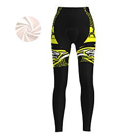cheap Cycling & Motorcycling-21Grams Women's Cycling Tights Cycling Pants Winter Fleece Bike Tights Padded Shorts / Chamois Pants Fleece Lining Breathable Warm Sports Yellow / Red / Blue Mountain Bike MTB Road Bike Cycling