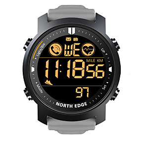 cheap Smart Watches-NORTH EDGE LAKER Men's Smartwatch Bluetooth Waterproof Heart Rate Monitor Calories Burned Camera Information Stopwatch Pedometer Call Reminder Alarm Clock Community Share