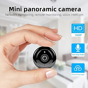 cheap Indoor IP Network Cameras-Wireless Mini WIFI 1080P IP Camera Cloud Storage Infrared Night Vision Smart Home Security Baby Monitor Motion Detection SD Card