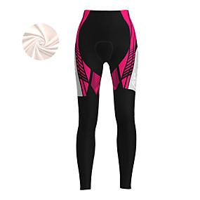cheap Cycling & Motorcycling-21Grams Women's Cycling Tights Cycling Pants Winter Fleece Bike Tights Padded Shorts / Chamois Pants Fleece Lining Breathable Warm Sports Red / Fuchsia / Blue Mountain Bike MTB Road Bike Cycling