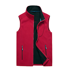 cheap Camping, Hiking & Backpacking-Men's Hiking Fleece Jacket Fishing Vest Work Vest Outdoor Casual Lightweight with Multi Pockets Fall Winter Spring Travel Cargo Safari Photo Wear Resistance Breathable Waistcoat Jacket Coat Top