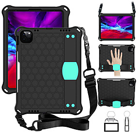 cheap iPad case-Case For Apple iPad Air 4 (2020) 10.9'' / iPad mini 1/2/3  7.9'' / iPad 5 (2017) 9.7'' Shockproof / with Stand / Child Safe Back Cover Lines / Waves / Solid Colored / Geometric Pattern Silica Gel / PC