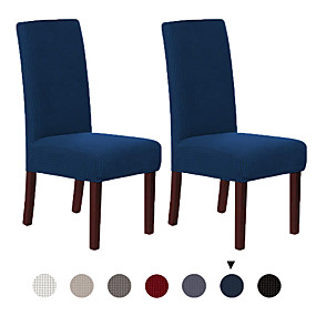 cheap Slipcovers-2 Pcs Chair Cover Dining Chair Slipcover Super Fit Stretch Removable Washable Short Dining Chair Protector Cover Seat Slipcover for Hotel/Dining Room/Ceremony/Banquet Wedding Party