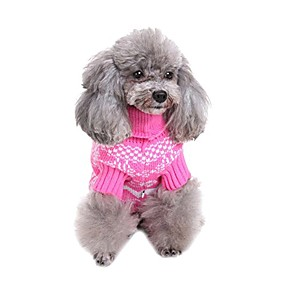 cheap Pet Costumes-classical pet clothes by design winter warm christmas snowflake sweater dog coat with snowflake by