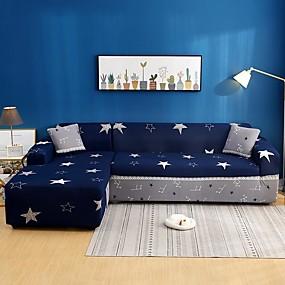 preiswerte Schonbezüge-Sternendruck 1-teilige Sofabezug Sofabezug Möbelschutz Soft Stretch Sofa Schonbezug Spandex Jacquard Stoff Super Fit für 1 ~ 4 Kissen Couch und L Form Sofa, einfach zu installieren