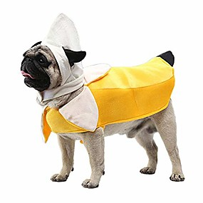cheap Pet Costumes-banana dog costume - funny halloween dog costume cute dog cosplay jumpsuit fashion dress for puppy small medium large dogs special events photo props accessories