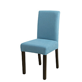 cheap Slipcovers-1 Piece Solid Color Stretch Removable Washable Dining Chair Covers, Dining Room Chair Protector Seat Slipcover for Hotel,Banquet,Wedding,Party