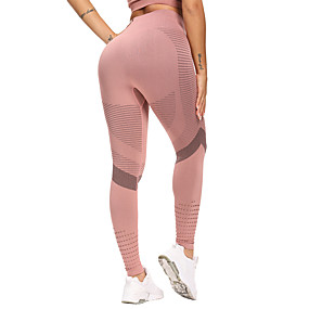 cheap Yoga & Fitness-Women's High Waist Yoga Pants Seamless Leggings Tummy Control Butt Lift Quick Dry Black Pink Green Fitness Gym Workout Running Sports Activewear High Elasticity Skinny