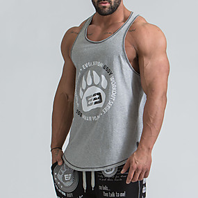 cheap Athleisure Wear-men's tank tops dry fit basic casual muscle workout bodybuilding fitness gym athletic t-shirts black grey red