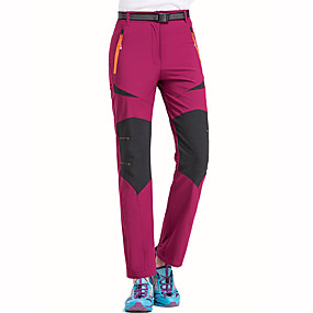 cheap Camping, Hiking & Backpacking-Women's Hiking Pants Patchwork Summer Outdoor Waterproof Windproof Breathable Quick Dry Pants / Trousers Bottoms Black Army Green Burgundy Khaki Hunting Ski / Snowboard Fishing M L XL XXL XXXL