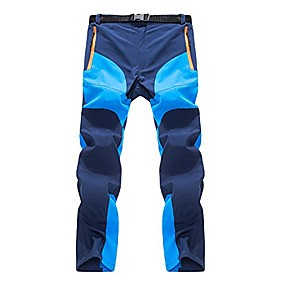 cheap Camping, Hiking & Backpacking-Men's Hiking Pants Trousers Hiking Cargo Pants Winter Outdoor Thermal Warm Waterproof Windproof Quick Dry Bottoms Army Green Dark Gray light coffee Navy Blue Camping / Hiking Ski / Snowboard Fishing