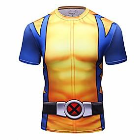 cheap Athleisure Wear-Men's T shirt Cartoon Print Short Sleeve Indoor Tops Charm Chic & Modern CT090 DT090 / Round Neck