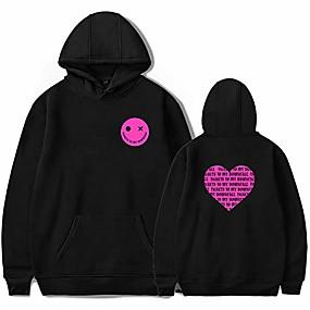 cheap Athleisure Wear-machine gun kelly tickets to my downfall album hoodies sweatshirt casual men/women pullover rapper fashion mgk letter (black4,xxs)