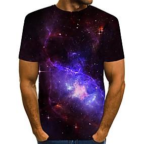 cheap Athleisure Wear-Men's T shirt 3D Print Graphic Print Short Sleeve Daily Tops Streetwear Purple