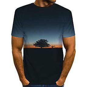 cheap Athleisure Wear-Men's T shirt 3D Print Graphic Scenery Print Short Sleeve Daily Tops Streetwear Black