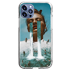 cheap Cases & Covers-Portrait Case For Apple iPhone 12 iPhone 11 iPhone 12 Pro Max Unique Design Protective Case with Screen Protector Shockproof Back Cover TPU