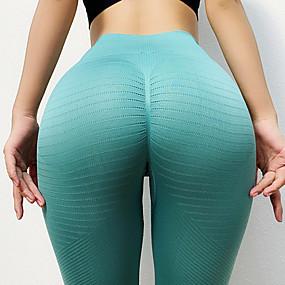 cheap Yoga & Fitness-Women's High Waist Yoga Pants Scrunch Butt Seamless Tights Leggings Tummy Control Butt Lift Breathable Black Blue Orange Nylon Yoga Fitness Gym Workout Winter Sports Activewear High Elasticity