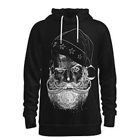 cheap Athleisure Wear-Men's Pullover Hoodie Sweatshirt Graphic 3D Portrait Front Pocket Hooded Christmas Daily 3D Print 3D Print Christmas Hoodies Sweatshirts  Long Sleeve Black