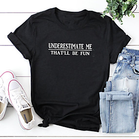 cheap Athleisure Wear-underestimate me that'll be fun t-shirt, women's proud and confidence funny tees tops (grey, medium)